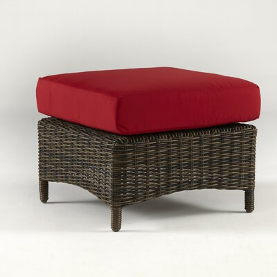 Saint John Ottoman with Cushion Fabric: Jockey Red