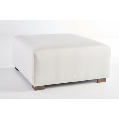 Cocktail Ottoman Fabric: Sand, Finish: Coffee