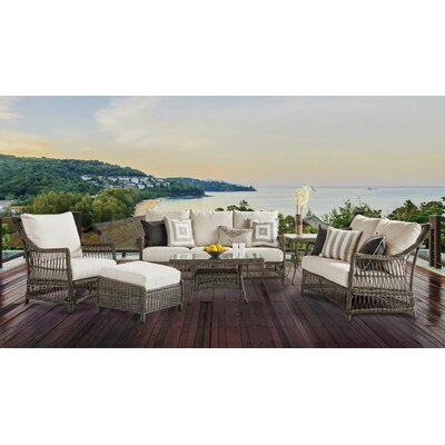Westbay 4 Piece Sofa Deep Seating Group with Cushion