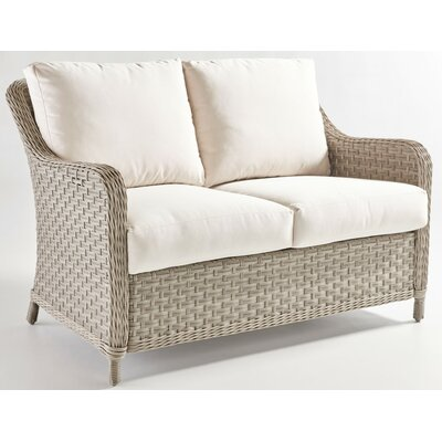 Mayfair Loveseat with Cushion Fabric: Canvas