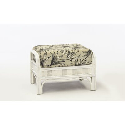 Bermuda Ottoman Color: Success Fennel, Finish: Whitewash