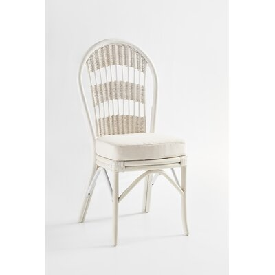 Bermuda Side Chair Frame Color: Whitewash, Upholstery Color: Dening Greige Natural