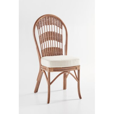 Bermuda Side Chair Frame Color: Pecan, Upholstery Color: Hubbard Tomato