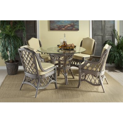 Nadine Dining Table Color: Cinnamon Rattan, Size: 34 H x 48 W x 48 D