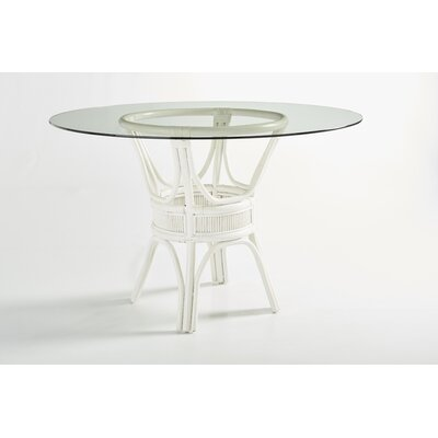 Bermuda Dining Table Base Finish: Whitewash, Size: 30 H x 48 W x 48 D