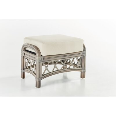 Nadine Jasmine Antique Stripe Ottoman Finish: Willow