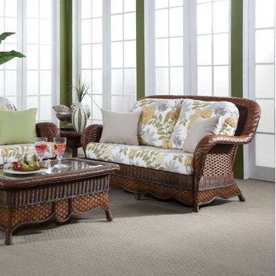 Autumn Morning Jasmine Antique Stripe Loveseat