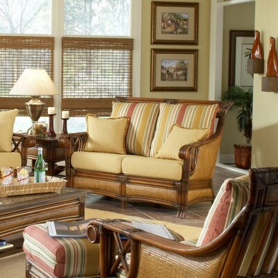 Pacifica Jasmine Antique Stripe Loveseat