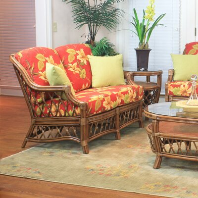 Nadine Ariel Sunset Loveseat Finish: Cinnamon
