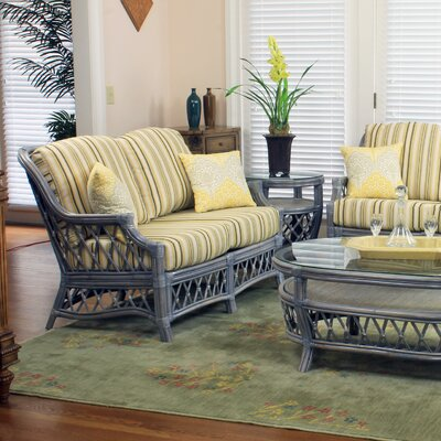 Nadine Bamboozel Plantain Loveseat Finish: Willow