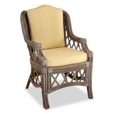 Nadine Arm Chair Upholstery: Jasmine Antique Stripe