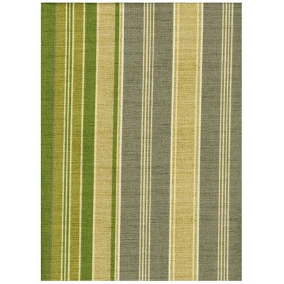 New Kauai Loveseat Upholstery: Green/Grey Striped
