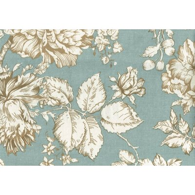 New Kauai Loveseat Upholstery: Teal/White Floral