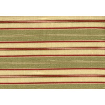 Autumn Morning Ottoman Upholstery: Green/Beige Striped