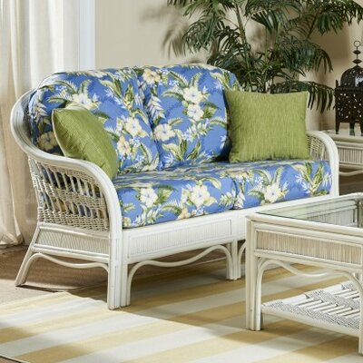 Bermuda Ariel Sunset Loveseat Finish: Whitewash