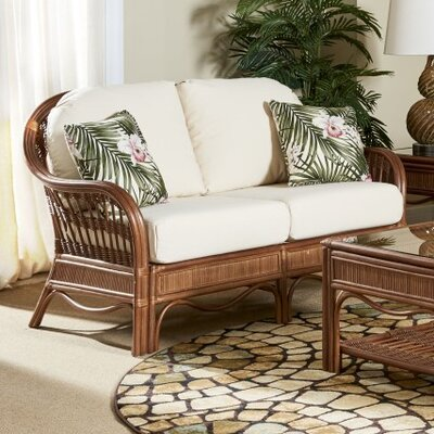 Bermuda Vera Cruz Fossil Loveseat Finish: Pecan