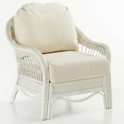 Bermuda Armchair Color: Dening Greige Natural, Finish: Whitewash