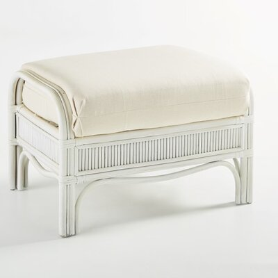 Bermuda Vera Cuz Fossil Ottoman Finish: Whitewash