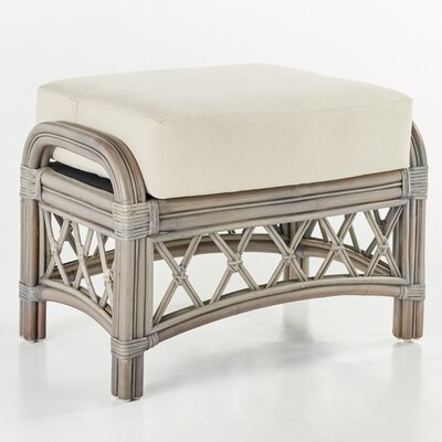 Nadine Grasmere Cocoa Ottoman Finish: Willow