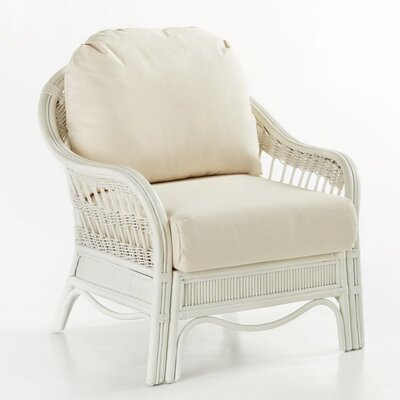 Bermuda Grasmere Cocoa Armchair Finish: Whitewash