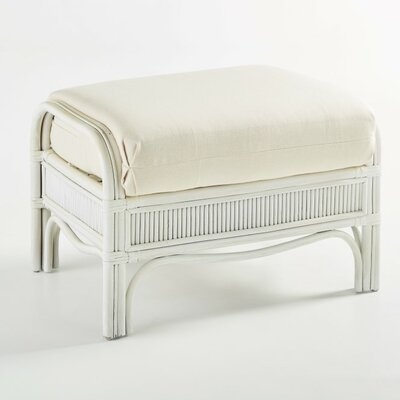 Bermuda Bamboozel Plantain Ottoman Finish: Whitewash