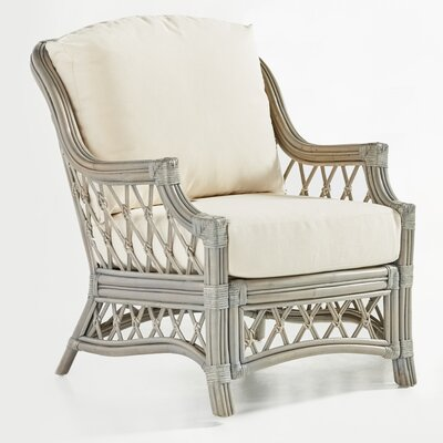 Nadine Jasmine Antique Stripe Armchair Finish: Willow