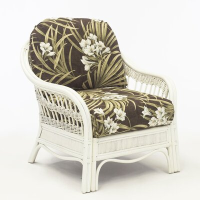 Bermuda Armchair Finish: Whitewash, Color: Sachi Pool