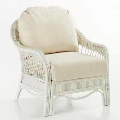 Bermuda Jasmine Antique Stripe Armchair Finish: Whitewash