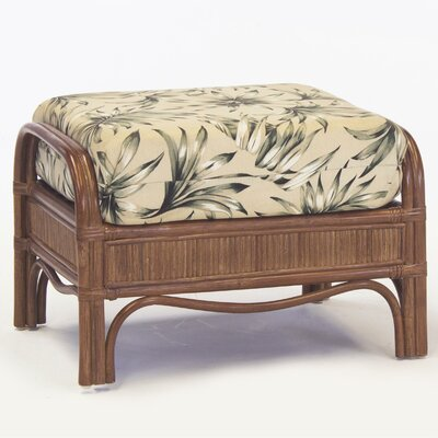 Bermuda Jasmine Antique Stripe Ottoman Finish: Pecan