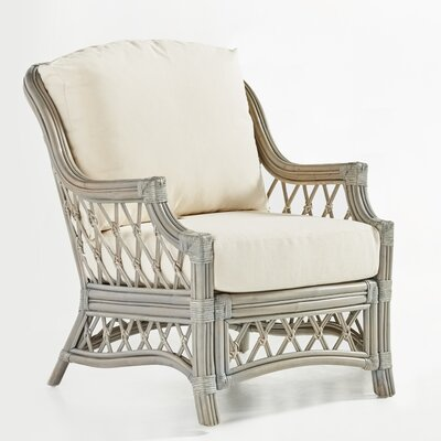 Nadine Armchair Color: Dening Greige Natural, Finish: Willow
