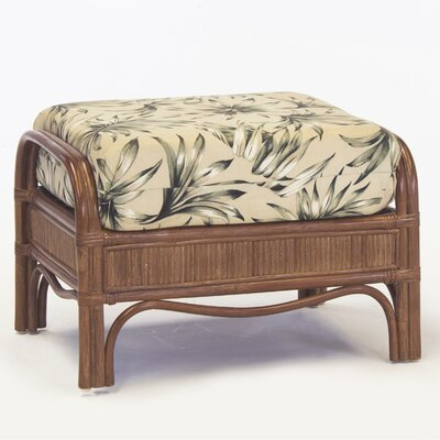 Bermuda Ariel Sunset Ottoman Finish: Pecan