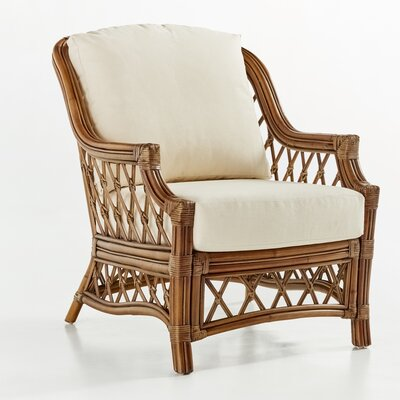 Nadine Armchair Finish: Cinnamon, Color: Dening Greige Natural