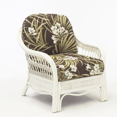 Bermuda Ariel Sunset Armchair Finish: Whitewash