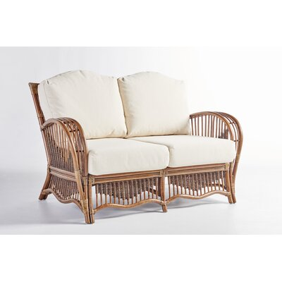 South Pacific Loveseat with Cushion Fabric: Aquamarine