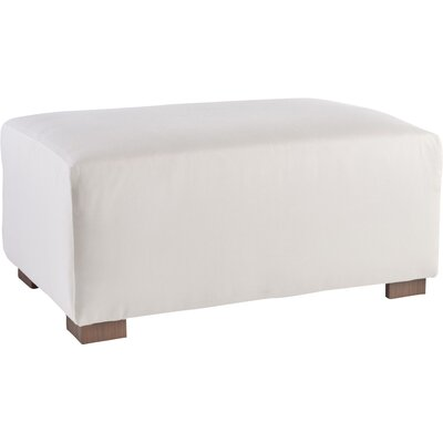 Cocktail Ottoman Fabric: Canvas, Finish: Gray