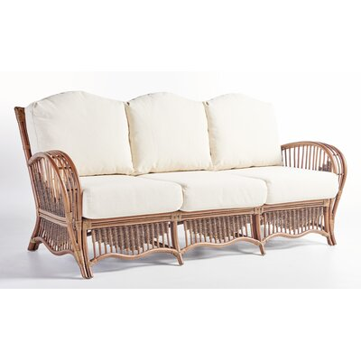 South Pacific Sofa with Cushion Fabric: Cornsilk