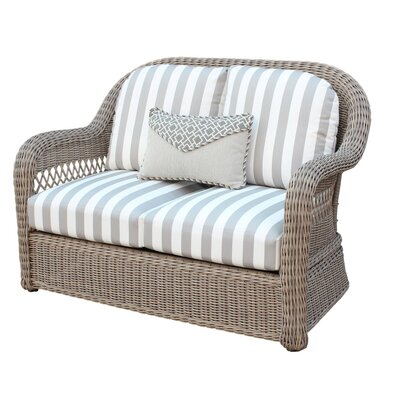 Arcadia Loveseat with Cushion Fabric: Cayenne