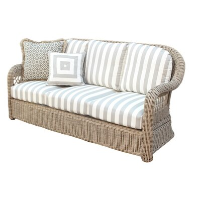 Arcadia Sofa with Cushion Fabric: Cornsilk