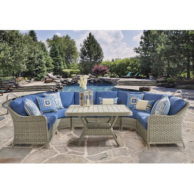 Mayfair Patio Seating Group Fabric: Pool