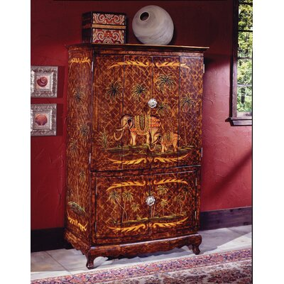 Hand-Painted TV Armoire