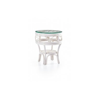 Palm Harbor End Table Color: White