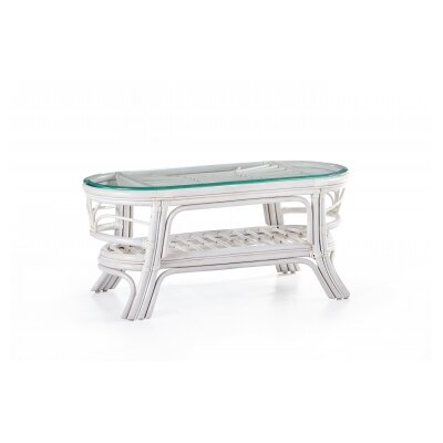 Palm Harbor Coffee Table Color: White