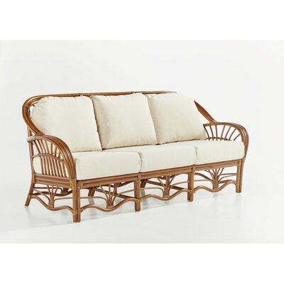 Palm Harbor Sofa Upholstery: Jasmine Antique Stripe, Finish: Walnut