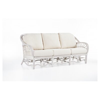 Palm Harbor Sofa Upholstery: Ariel Sunset, Finish: White