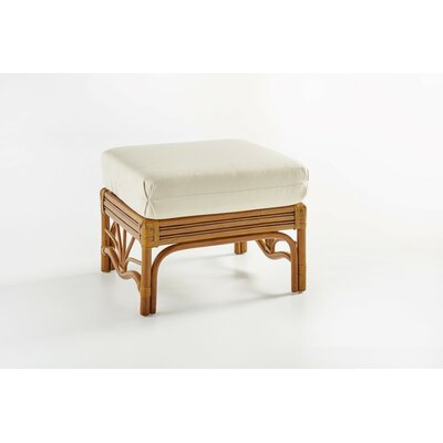 Palm Harbor Ottoman Upholstery: Jasmine Antique Stripe, Color: Walnut