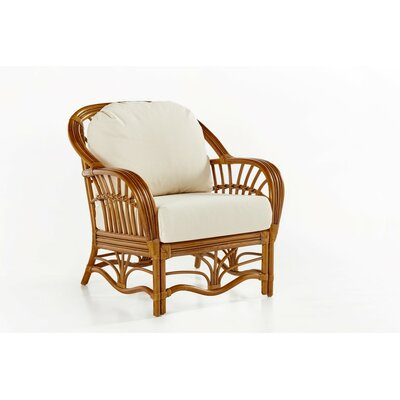 Palm Harbor Armchair Upholstery: Ariel Sunset, Finish: Walnut