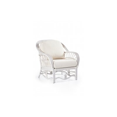 Palm Harbor Armchair Upholstery: Grasmere Cocoa, Finish: White
