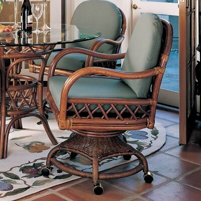 No credit check financing Antigua Arm Chair Finish: Walnut, U...