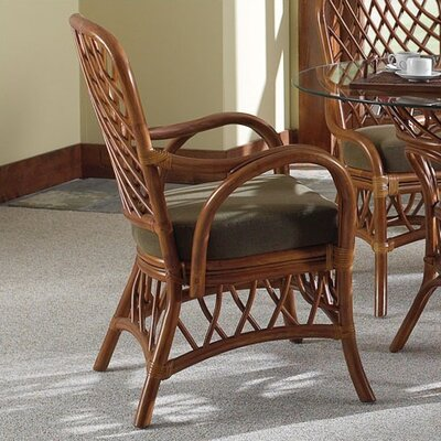 Easy financing Antigua Arm Chair Finish: Walnut, U...