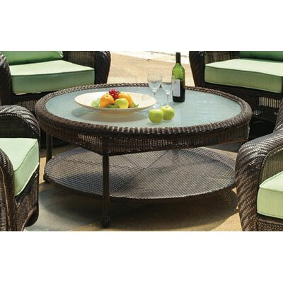 Key West Round Wicker Chat Table Color: Rustic White